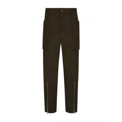 Green Zip Cargo Pants