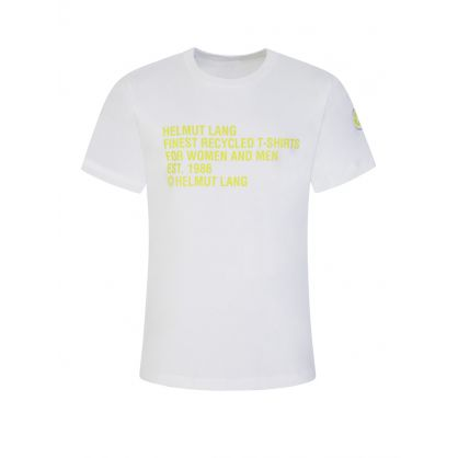 White Recycled Jersey T-Shirt