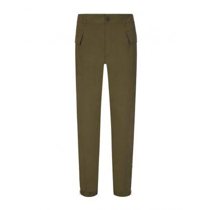 Green Nylon Cargo Pants