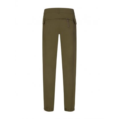 Green Nylon Cargo Pants
