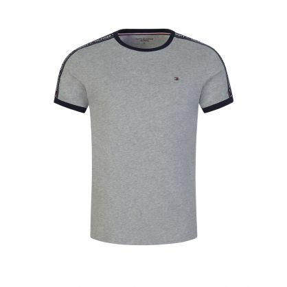 Grey Logo Tape Lounge T-Shirt