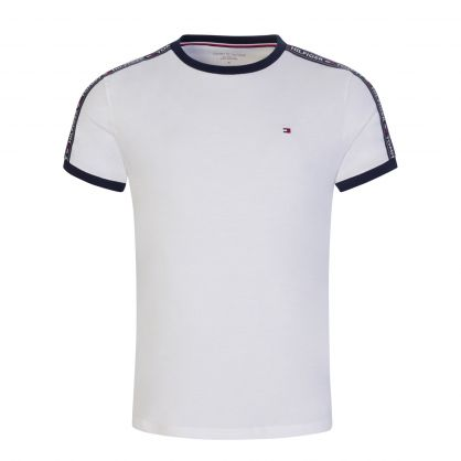 White Shoulder Logo Tape T-Shirt