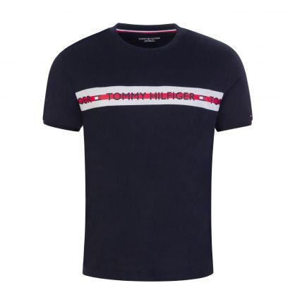 Navy Logo-Print Lounge T-Shirt