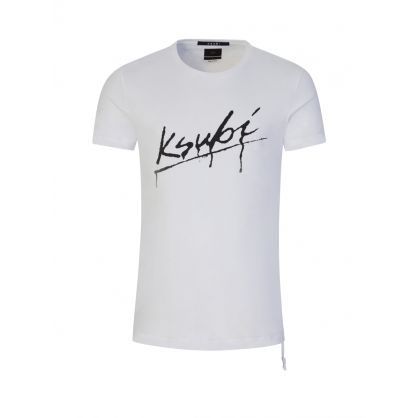 White Drip Logo T-Shirt