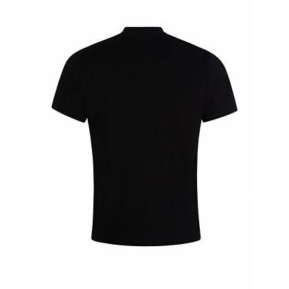 Black Cross Logo Classic Sports T-Shirt