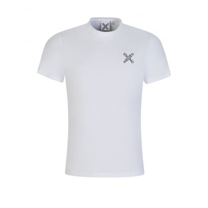 White Cross Logo Classic Sports T-Shirt