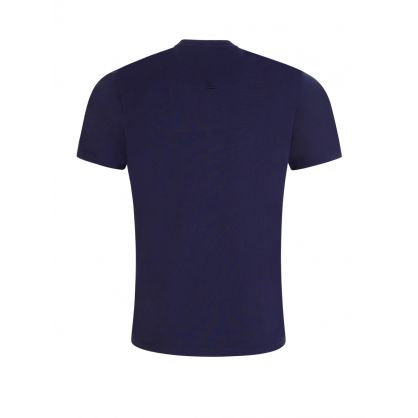 Navy Tiger Crest Logo T-Shirt