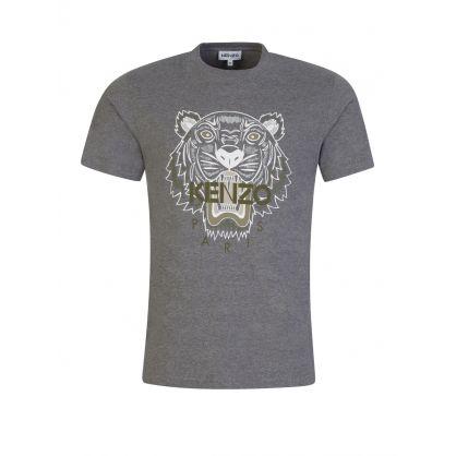 Grey Tiger Logo T-Shirt
