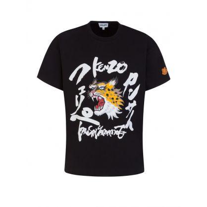 x Kansai Yamamoto Black Roaring Cheetah T-Shirt