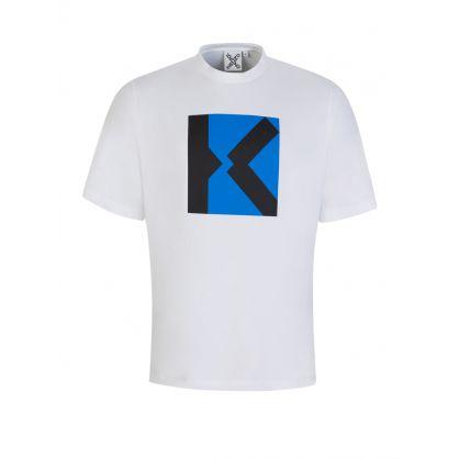 White Oversized-Fit Sport 'Blocked K' T-Shirt