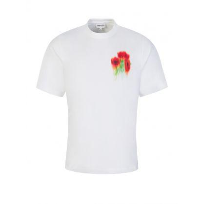 White Seasonal Graphic Crest T-Shirt