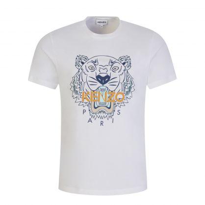 White/Black Classic Tiger Print T-Shirt
