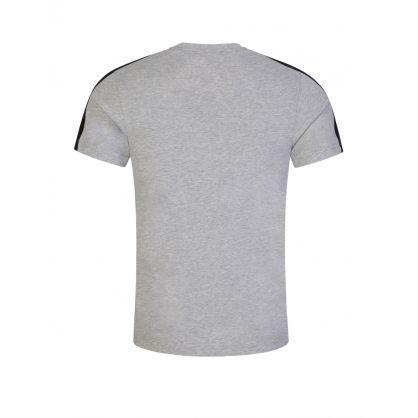 Grey Cotton-Blend Crocodile Bands T-Shirt