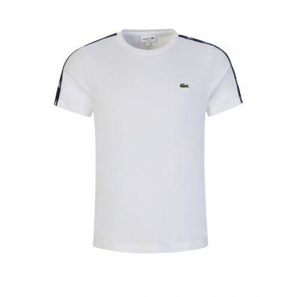 White Crocodile Bands Cotton-Blend T-Shirt