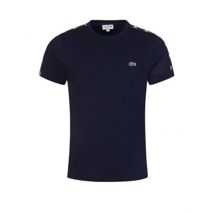 Navy Crocodile Bands Cotton-Blend T-Shirt