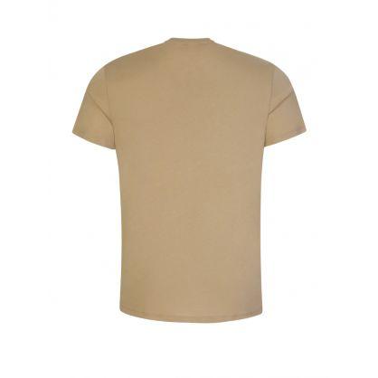 Beige Cotton-Blend Crocodile Bands T-Shirt