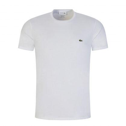 White Pima Cotton Crocodile T-Shirt