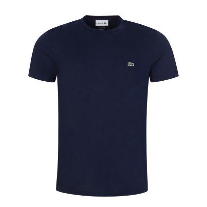 Navy Blue Pima Cotton Crocodile T-Shirt