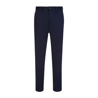 Navy Slim-Fit Chaze Super Satin Trousers