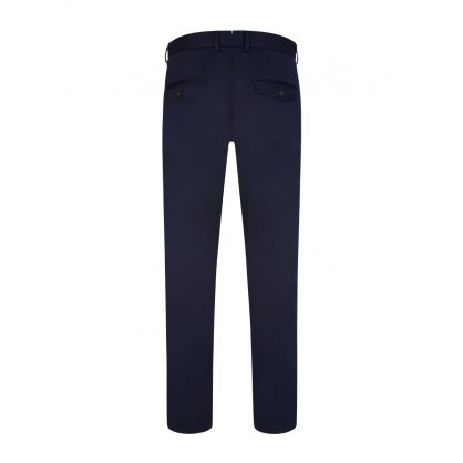 Navy Slim-Fit Chaze Super Satin Trousers