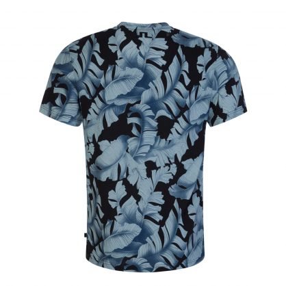 Navy Silo Printed T-Shirt