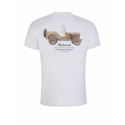 White Jeep Print T-Shirt