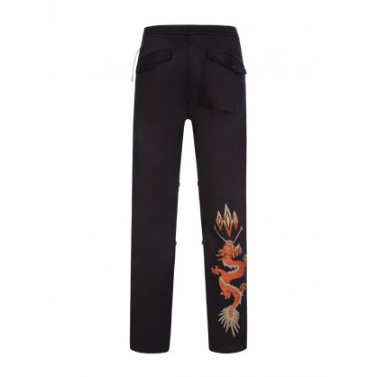Black Mil Chimayo Embroidery Souvenir Snopants