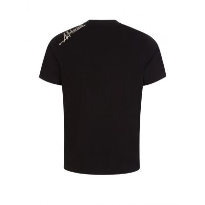 Black Heart of Tigers Embroidered T-Shirt