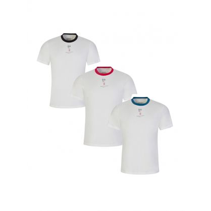 White Stamp T-Shirts 3-Pack