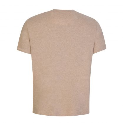 Maison Mergiela Beige Upside-Down Logo T-Shirt