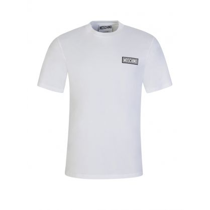 White Rubberised Chest Logo T-Shirt