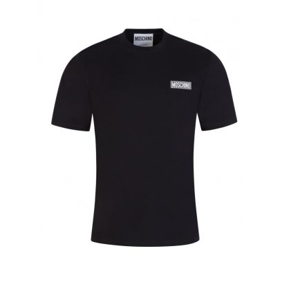 Black Rubber Patch Logo T-Shirt