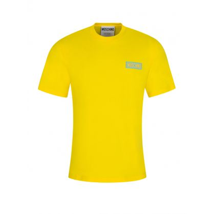 Yellow Rubberised Logo T-Shirt