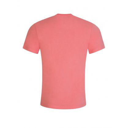 Pink High Shine Milano Logo T-Shirt