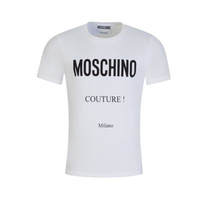 White Milano Couture Logo T-Shirt