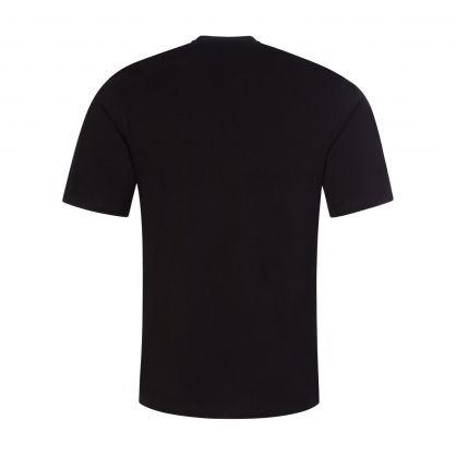 Black Embroidered Symbols Logo T-Shirt