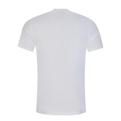 White Distorted Image Logo T-Shirt