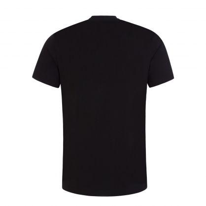 Black Double Question Mark Logo T-Shirt