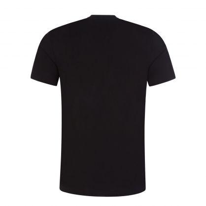 Black Cotton Logo Print T-Shirt