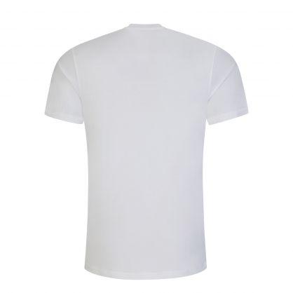 White Cotton Logo-Print T-Shirt