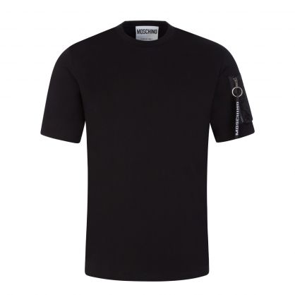 Black Zip-Pocket T-Shirt
