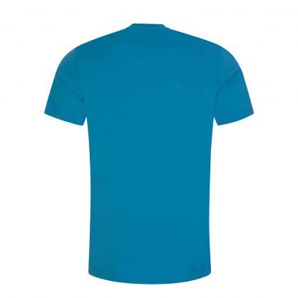 Blue Double Question Mark Logo T-Shirt