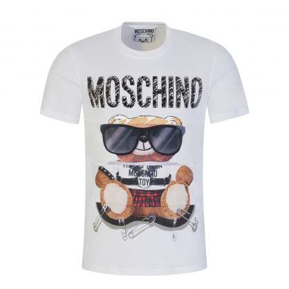 White Sunglasses Teddy Bear T-Shirt