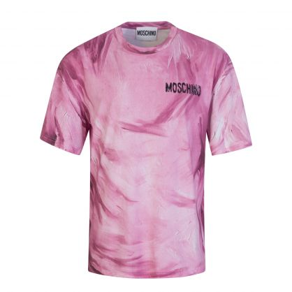 Pink Painted Chest Logo Jersey T-Shirt