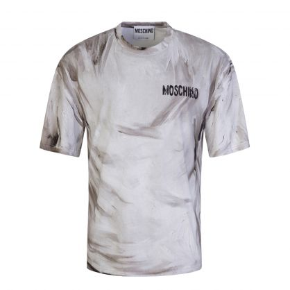 Grey Painted Chest Logo Jersey T-Shirt