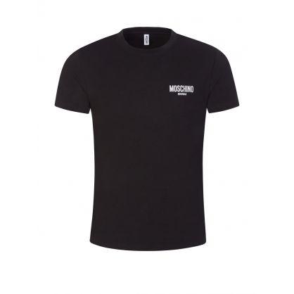 Swim Black Shiny Chest Logo T-Shirt