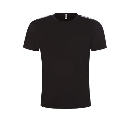 Black Shoulder Logo Tape T-Shirt