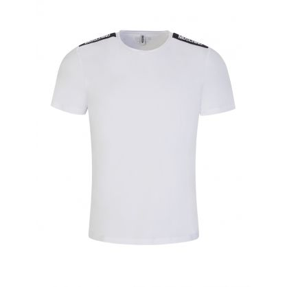 White Long-Sleeve New Logo Tape T-Shirt