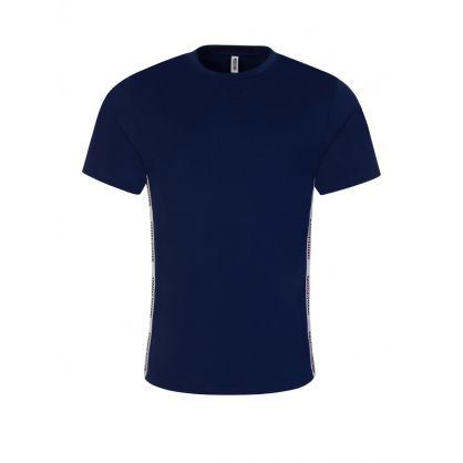 Navy Logo Tape T-Shirt