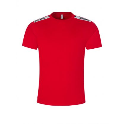 Red Logo Tape T-Shirt